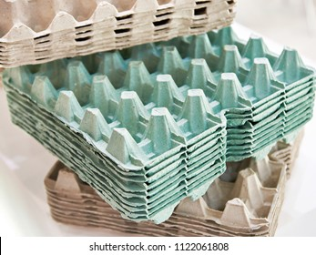 Stack cardboard packaging for eggs