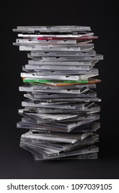 Stack of CD and DVD