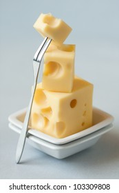 Stack of cheese,shallow depth of field