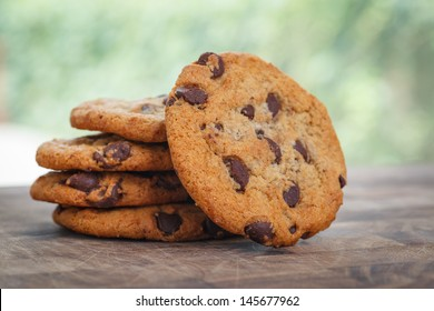 Stack of Chocolate chip cookie