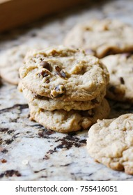 Stack of Chocolate Chip and Walnut Cookies