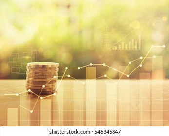 Stack of coins money finance and banking concept for background.concept in grow and walk step by step for success in business