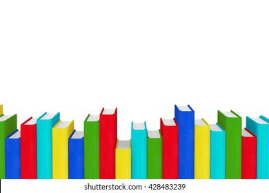 Stack of Colorful Books on a white background. 3d Rendering