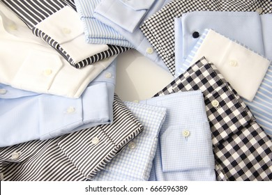 stack with colorful  business shirts for men