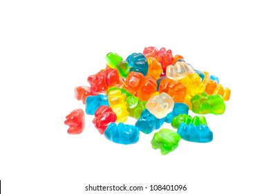 A stack of colorful gummy bears