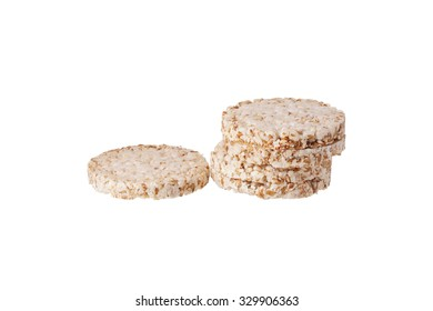 A stack of cookies. Isolated on white.