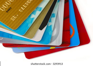 Stack of Credit Cards.