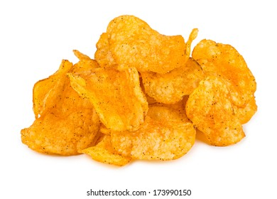stack of crunchy potato chips