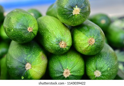 A stack of cucumbers