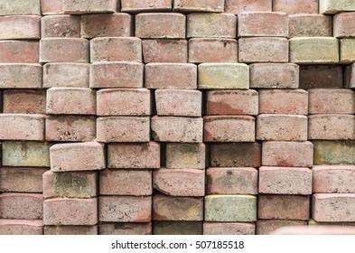 Stack of dirty bricks