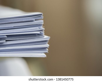 Stack of document on the table , business concept