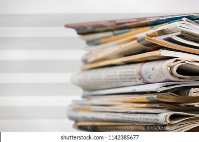 Stack documents on blur background