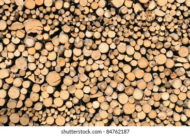 Stack of dried firewood
