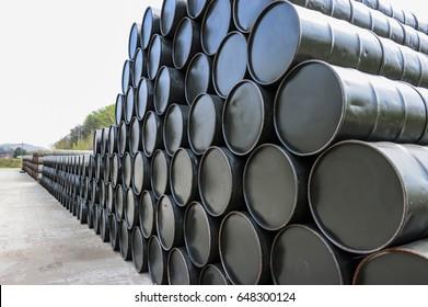A stack of Drum barrel