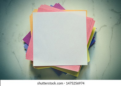 stack of empty notes paper