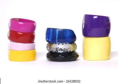 stack fashion colorful bangles