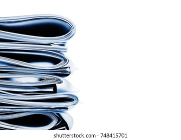 Stack of folded business, legal or insurance papers
