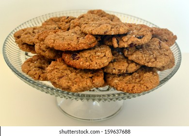 Stack of  Fresh Homemade Oatmeal Cookies