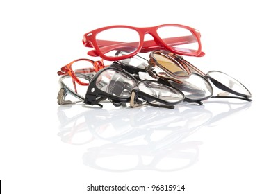 Stack of glasses with perfect reflection