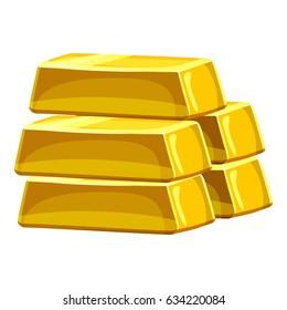 Stack of gold bars icon. Cartoon illustration of stack of gold bars  icon for web