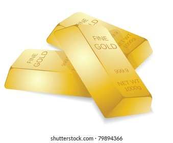 a stack of gold bars, to illustrate wealth.