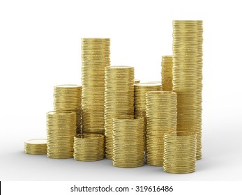 stack of golden coins illustration