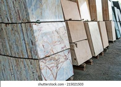 stack of granite slab