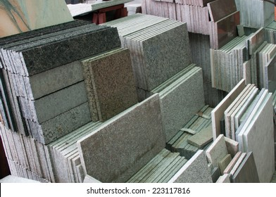 stack of granite slab - texture  design gray seamless stone abstract surface grain nobody rock backdrop construction