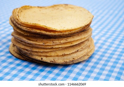 Stack of  hand made Mexican Tortillas