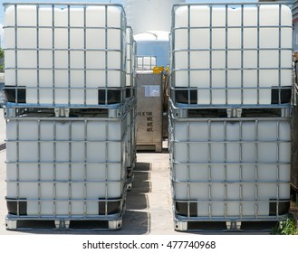 Stack of IBC Tank for Chemical storages.