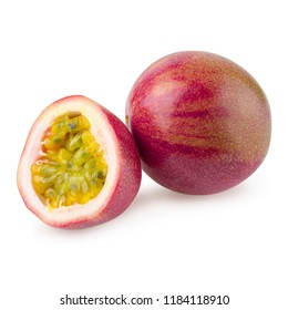 stack image of Passion fruit isolated on a white background with clipping path.