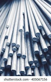 Stack of industrial metallic bars
