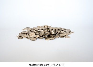 Stack of Japanese 500 Yen coins