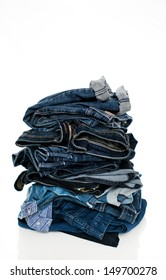 Stack of Jeans in Various Washes
