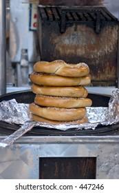 stack of jumbo pretzels