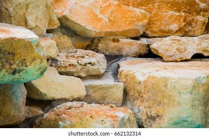 stack of limestone rocks