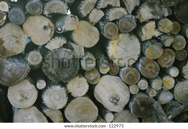 stack of logs for firewood