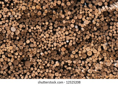 Stack of logs on saw mill texture