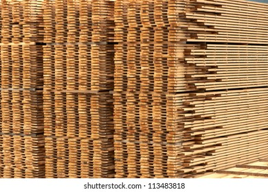 a stack of lumber