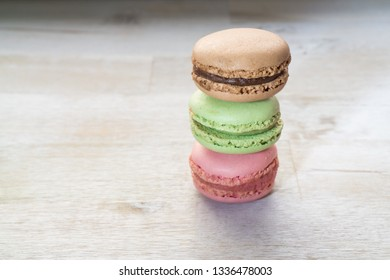 A stack of macarons
