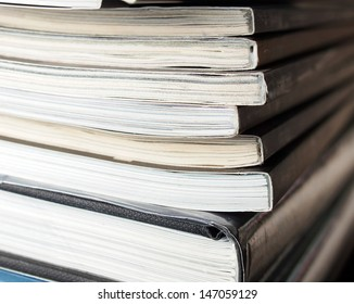Stack of magazine books