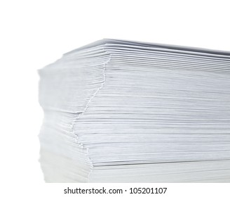 stack of mail envelopes isolated on white background