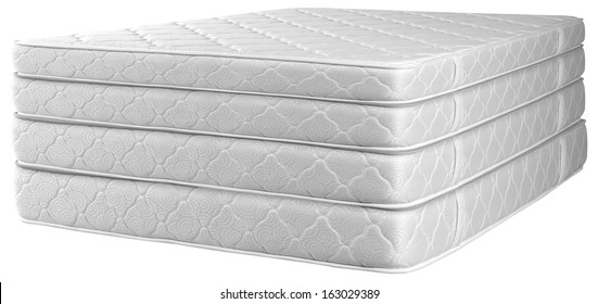 Stack of mattresses.