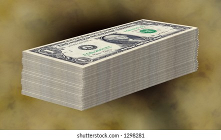 Stack of Money - Clipping Path