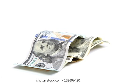 Stack of money isolated on a white background.