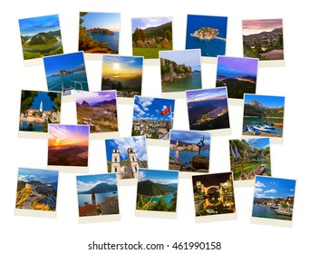 Stack of Montenegro and Bosnia images - nature and travel background (my photos)