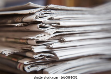 Stack of Newspapers, Journalism concept