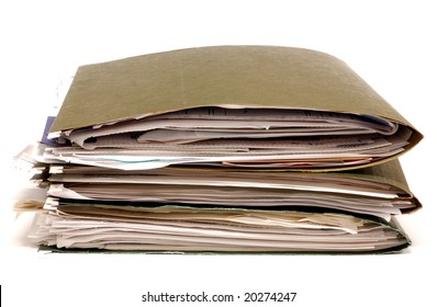 Stack of office folders