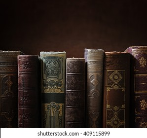 stack of old books, copyspace for your text.