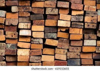 stack of old hardwood